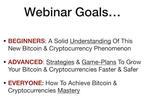 Bitcoin & Cryptocurrency Free Webinar: How To Invest & Secure