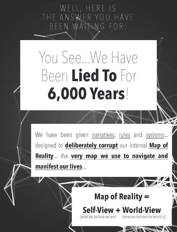 We have been lied to for 6000 years with a distorted Map of Reality